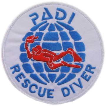 PADI Rescue Diver Badge